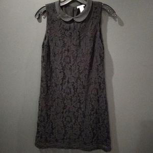 H&M mini black lace dress